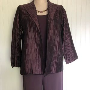 Eileen Fisher 3 Pc Suit 100% Silk Sz. Small